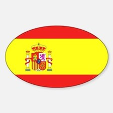 Spanish Flag Rectangle Decal