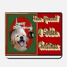 Golden Retriever Christmas Mousepad