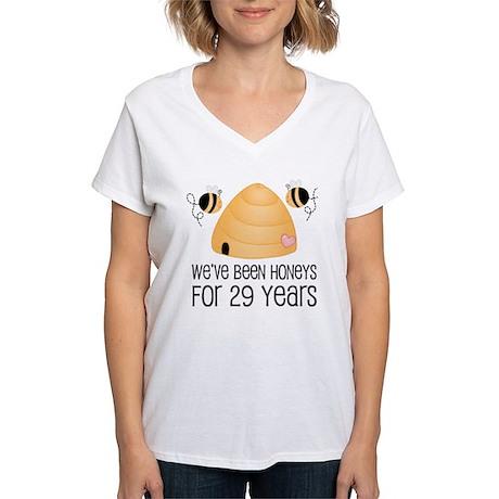 29th Anniversary Honey Women's V-Neck T-Shirt