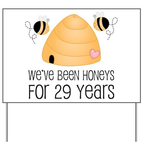 29th Anniversary Honey Yard Sign