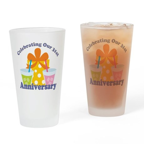 31st Anniversary Party Gift Drinking Glass