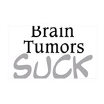 Brain Tumors Suck 35x21 Wall Decal