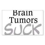 Brain Tumors Suck Sticker (Rectangle)