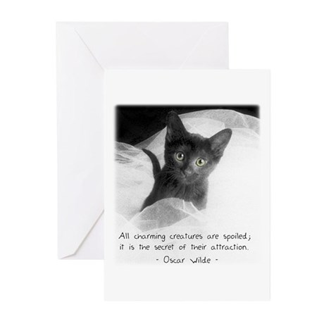 Spoiled Kitten-And-Quote Greeting Cards (Package o