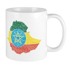 Ethiopian Flag Print Mug