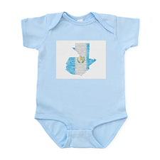 Guatemala Flag Print Infant Bodysuit