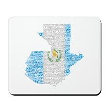 Guatemala Flag Print Mousepad