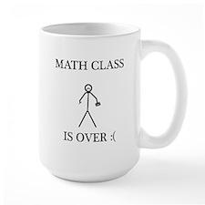 Math Class is Over Stick Figure Mug