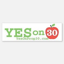 Yes on 30 Bumper Bumper Sticker