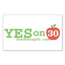Yes on 30 Decal