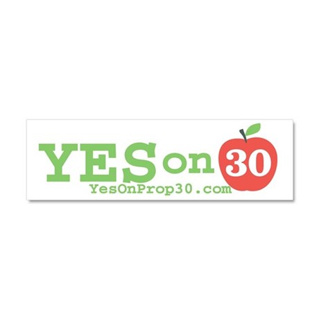 Yes on 30 Car Magnet 10 x 3