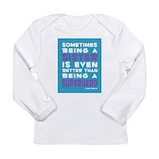 Superhero Sister print Long Sleeve Infant T-Shirt