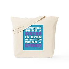 Superhero Sister print Tote Bag