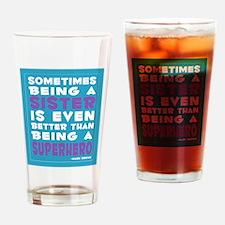 Superhero Sister print Drinking Glass