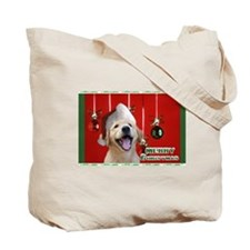 Golden Retriever Christmas Tote Bag