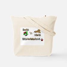 Golden Retriever Christmas Tote Bag