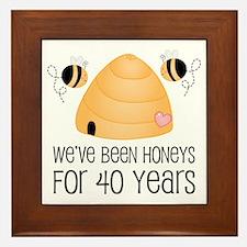 40th Anniversary Honey Framed Tile