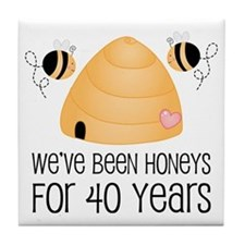 40th Anniversary Honey Tile Coaster