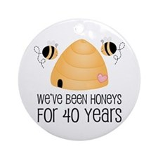 40th Anniversary Honey Ornament (Round)