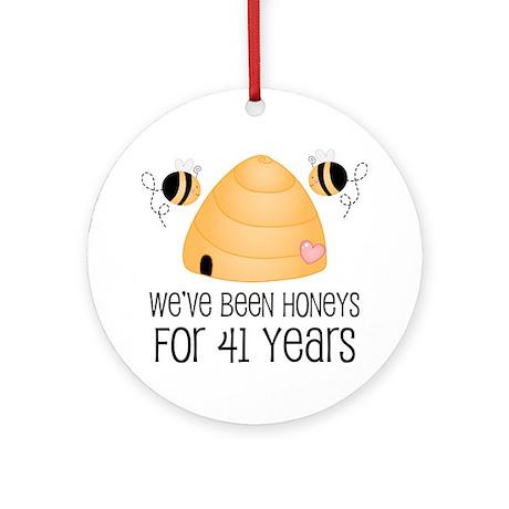 41st Anniversary Honey Ornament (Round)