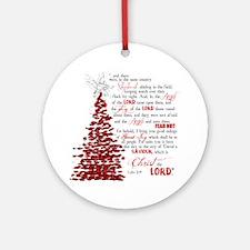 Luke 2:8 Ornament (Round)