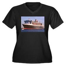 Cruise Ship 2 Women's Plus Size V-Neck Dark T-Shir