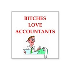 "accountantt Square Sticker 3"" x 3"""