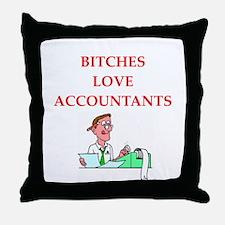 accountantt Throw Pillow