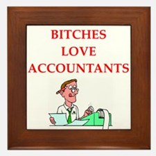 accountantt Framed Tile