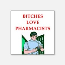 "pharmacy Square Sticker 3"" x 3"""