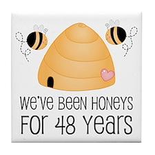 48th Anniversary Honey Tile Coaster
