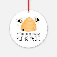 48th Anniversary Honey Ornament (Round)