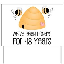 48th Anniversary Honey Yard Sign