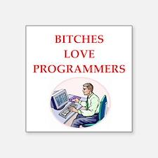 "programmer Square Sticker 3"" x 3"""