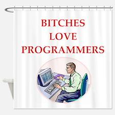programmer Shower Curtain