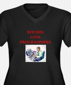programmer Women's Plus Size V-Neck Dark T-Shirt