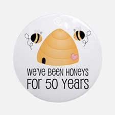 50th Anniversary Honey Ornament (Round)
