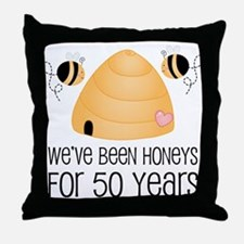 50th Anniversary Honey Throw Pillow