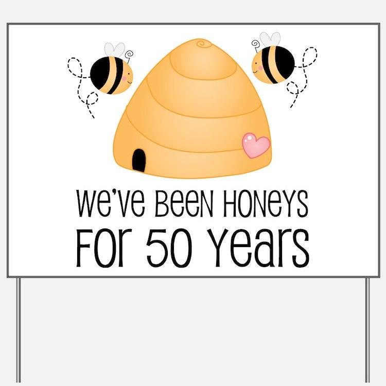 50th Anniversary Honey Yard Sign