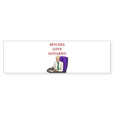 notary Sticker (Bumper)