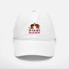 34 Years Together Anniversary Baseball Baseball Cap