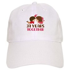 37 Years Together Anniversary Baseball Cap
