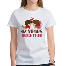 42 Years Together Anniversary Tee