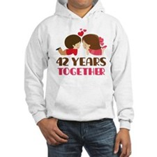 42 Years Together Anniversary Hoodie