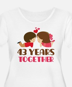 43 Years Together Anniversary T-Shirt