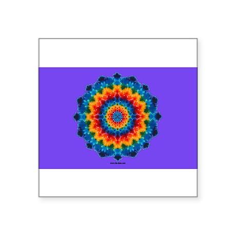 Rainbow Mandala Tie-dye Oval Sticker