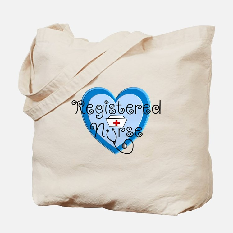 RN heart Blue Stetho cap.PNG Tote Bag