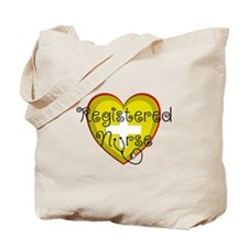 RN heart red green shades stetho.PNG Tote Bag