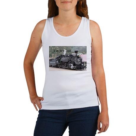I'm just loco: Colorado steam train Women's Tank T