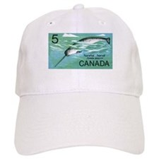 1968 Canada Narwhal Postage Stamp Baseball Cap